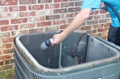 Cleaning off your unit is part of good HVAC maintenance for homeowners in Sellersburg, IN.